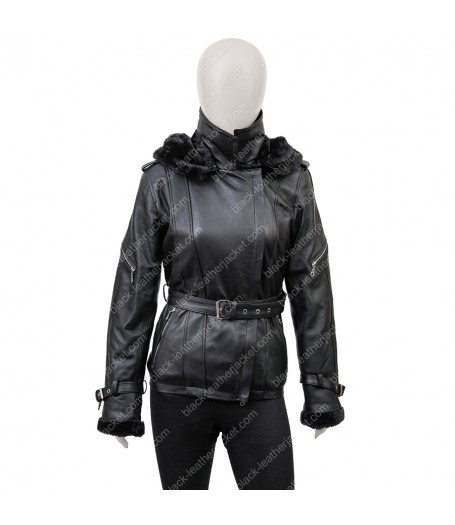 Emma Swan Black Leather Jacket