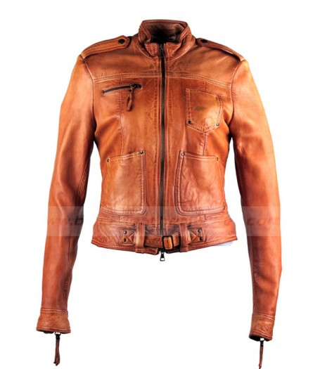 Once Upon A Time Season 4 Emma Swan Brown Leather Jacket