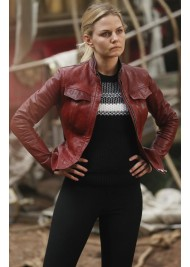 Once Upon a Time Season 6 Emma Swan Leather Jacket