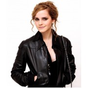 Emma Watson Black Leather Jacket