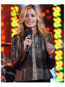 Escape To Total Rewards Cat Deeley Leather Jacket