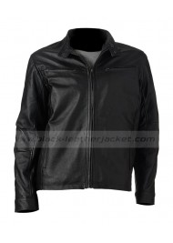 Excelled Racer Big and Tall Black Leather Jacket