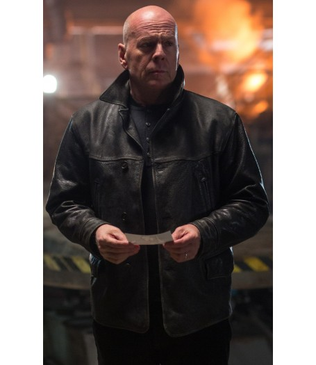 Bruce Willis Extraction Leonard Turner Leather Jacket