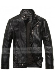 Fashionable Genuine Black Leather Jacket for mens