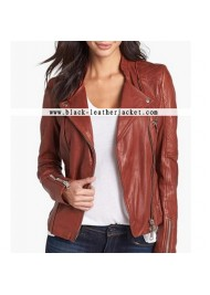Fifty Shades of Grey Dakota Johnson Brown Leather Jacket