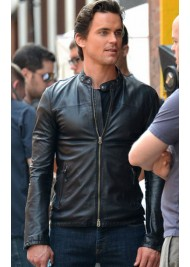 Matt Bomer Fitted Black Leather Jacket