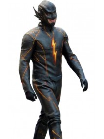 The Flash Season 3 Black Flash Leather Jacket