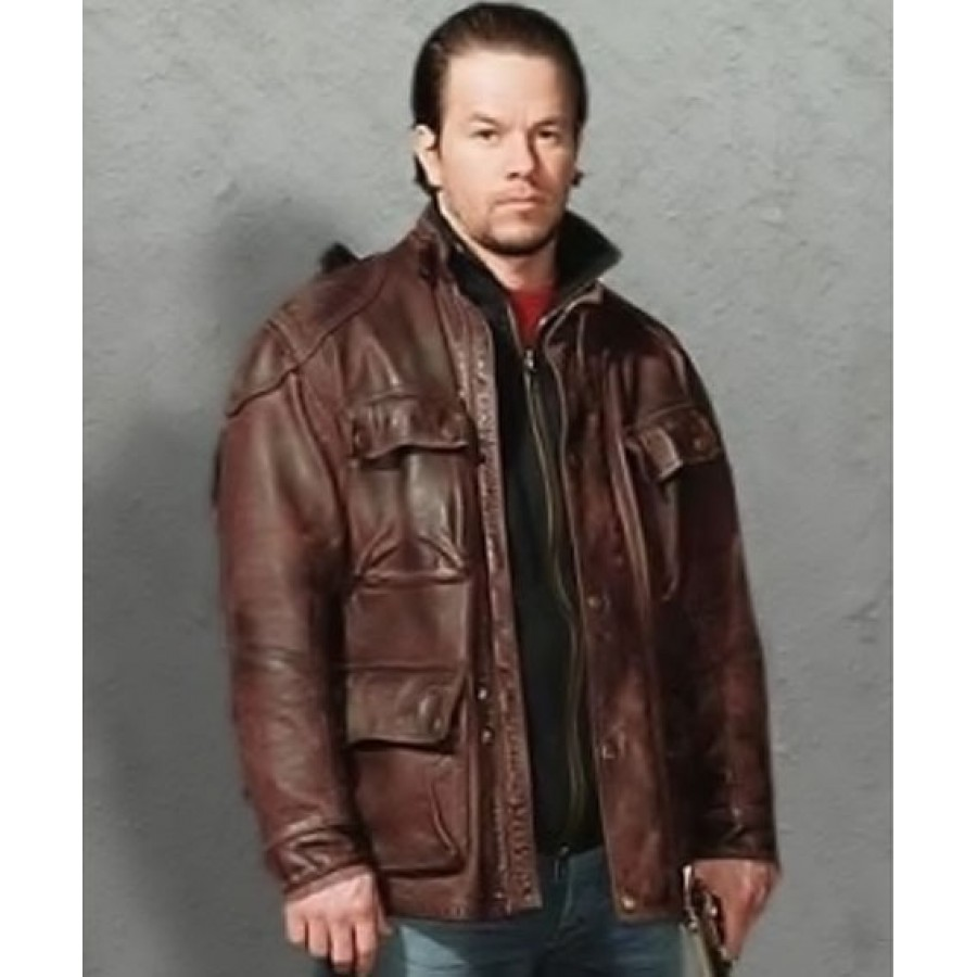 Four Brothers Jacket   Brown Mark Wahlberg Leather Coat