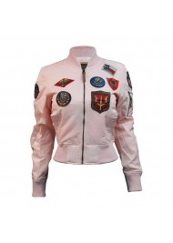Womens Top Gun MA-1 Jacket With Patches