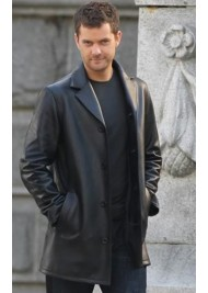 Joshua Jackson Fringe Television Series Peter Bishop Leather Coat