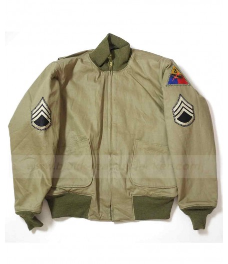 Fury Movie Brad Pitt WW2 Jacket