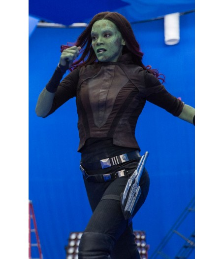 Gamora Guardians of The Galaxy 2 Zoe Saldana Cropped Jacket