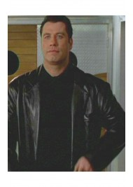 John Travolta Get Shorty Film Chili Palmer Black Leather Jacket