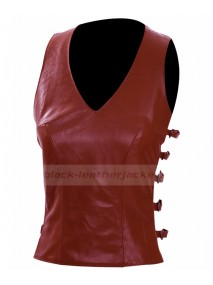 Gina Torres Firefly TV Series Zoe Washburne Leather Vest