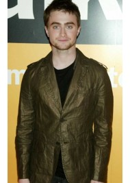 Daniel Radcliffe Green Faux Leather Jacket