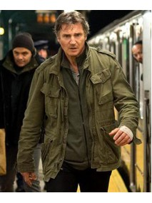 Liam Neeson Run All Night Army Green Jacket