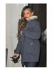 Grey Long Chanel Rihanna Jacket