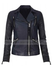 Heather Graham Black Leather Biker Jacket