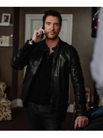 Hostages Dylan McDermott Black Leather Jacket