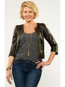 Imaginary Mary Jenna Elfman Leather Jacket