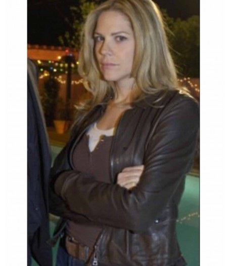 In Plain Sight Mary Shannon Brown Leather Jacket