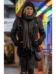Katja Sekerci In The Fade Leather Jacket