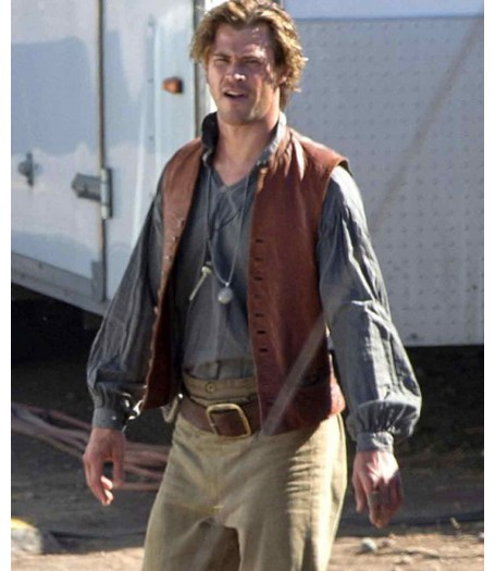 In The Heart of The Sea Film Chris Hemsworth Leather Vest