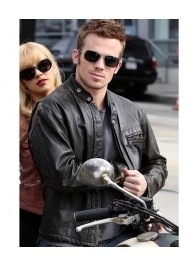 Jack Burlesque Cam Gigandet Black Leather Jacket