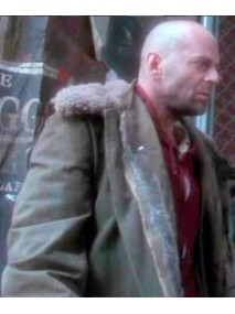 Twelve Monkeys James Cole Leather Coat With Fur Collar