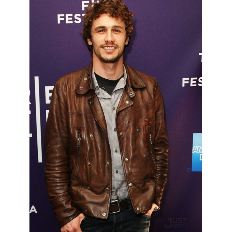 James Franco Brown Leather Jacket | Biker Style Jacket For Men