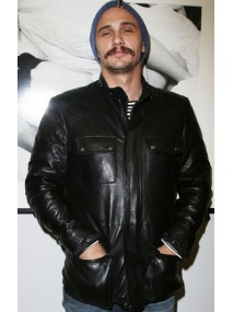 Film Stills Exhibition James Franco Black Quilted Leather Jacket