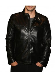 James Franco Black Quilted Leather Jacket