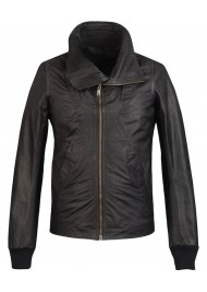 Jay Z Rick Owens Black Leather Jacket Sale