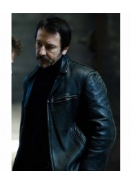 Braquo Eddy Caplan Black Leather Jacket