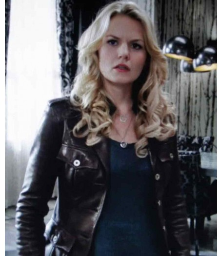 Emma Swan Once Upon a Time Brown Leather Jacket