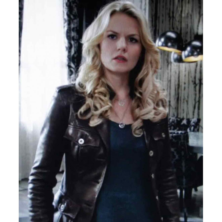 Emma Swan Brown Leather Jacket | Once Upon a Time Jacket