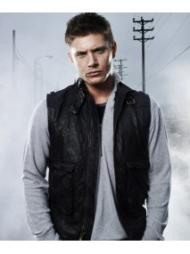 Jensen Ackles Supernatural Dean Winchester Leather Vest