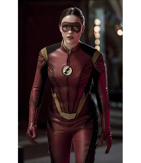 Jesse Quick Flash Red Leather Jacket