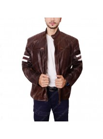 Joe Rocket 92 Classic Brown Leather Biker Jacket