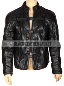 John Crichton Farscape Black Leather Jacket
