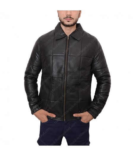 Johnny Depp Black Mass Black Leather Bomber Jacket