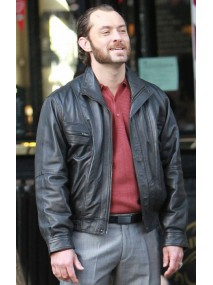 Jude Law Dom Hemingway Leather Jacket