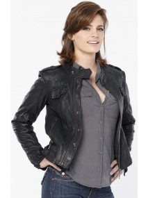 Stana Katic Castle Kate Beckett Black Leather Jacket
