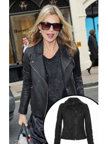 Kate Moss Black Leather Jacket