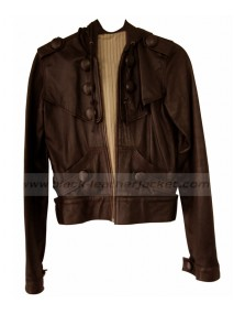 Keira Knightley Brown Leather Jacket