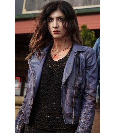 Kelly Maxwell Ash Vs Evil Dead Purple Leather Jacket