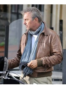 Kevin Costner Three Days to Kill Leather Jacket