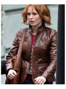 Kim Cummings 88 Minutes Alicia Witt Brown Leather Jacket