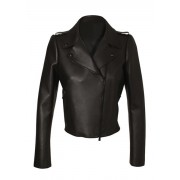 Kim Kardashian Black Leather Jacket