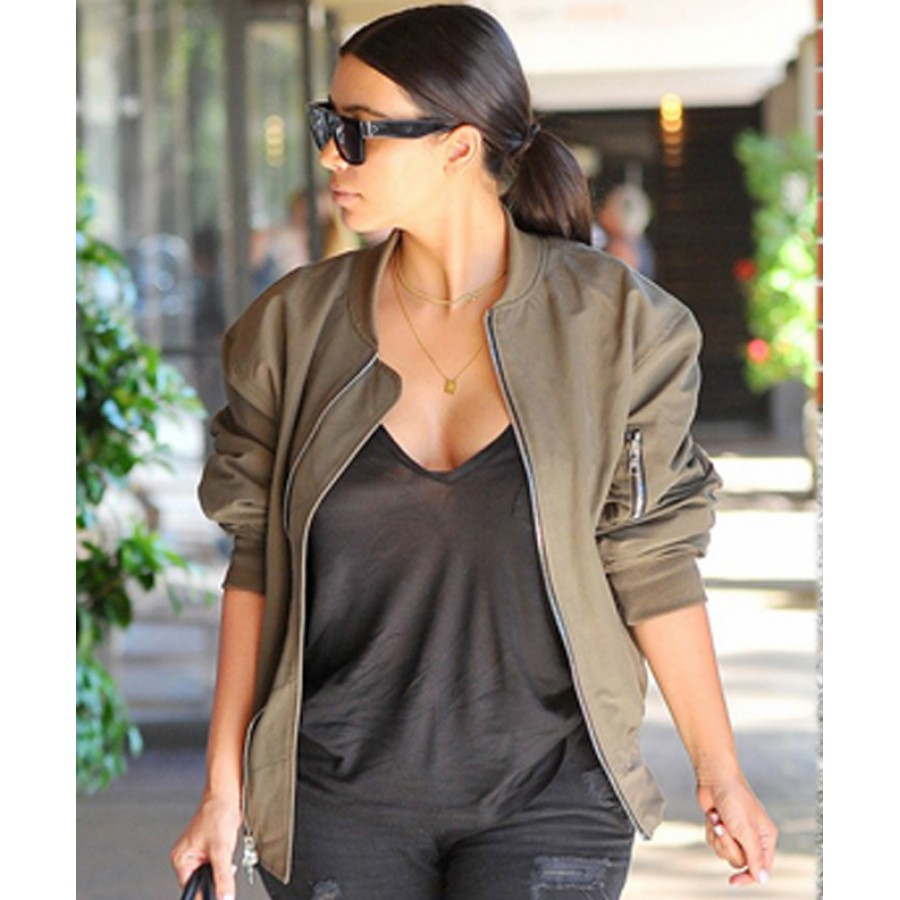 Womens black khaki jacket